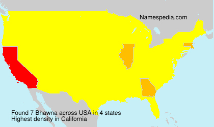 Surname Bhawna in USA