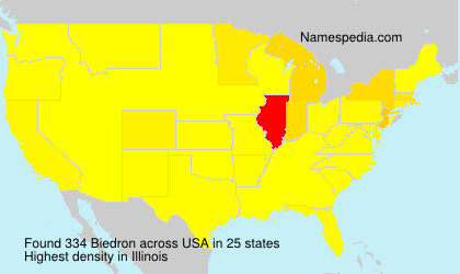 Surname Biedron in USA