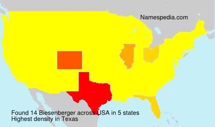 Surname Biesenberger in USA
