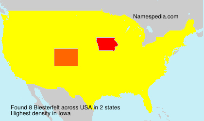Surname Biesterfelt in USA
