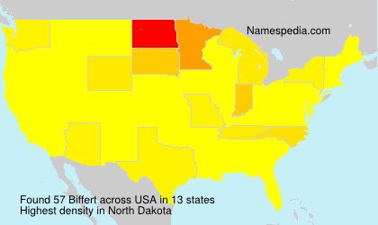 Surname Biffert in USA