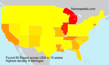 Surname Bigard in USA