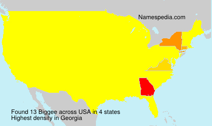 Surname Biggee in USA