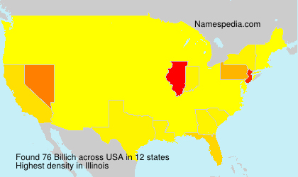 Surname Billich in USA