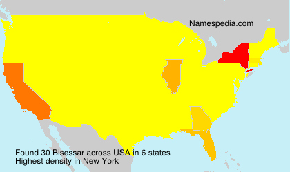 Surname Bisessar in USA