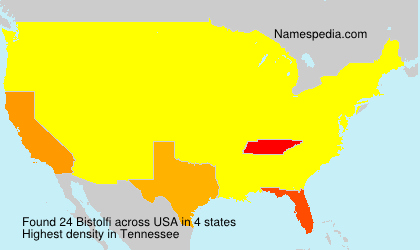 Surname Bistolfi in USA