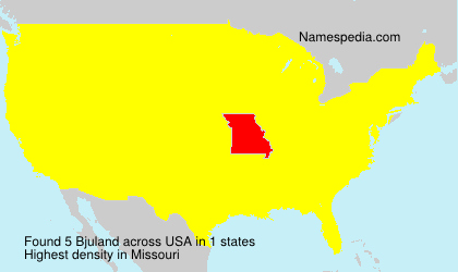Surname Bjuland in USA
