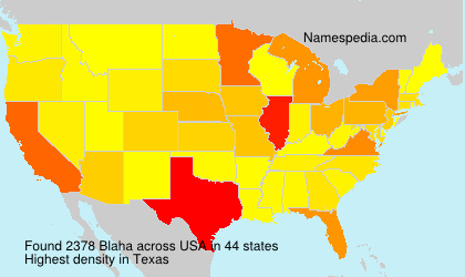 Surname Blaha in USA