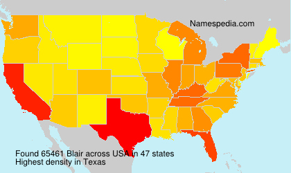Surname Blair in USA
