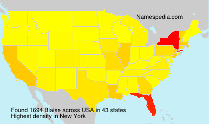 Surname Blaise in USA