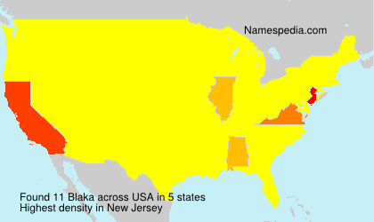 Surname Blaka in USA