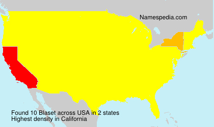 Surname Blaset in USA