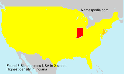 Surname Bleah in USA