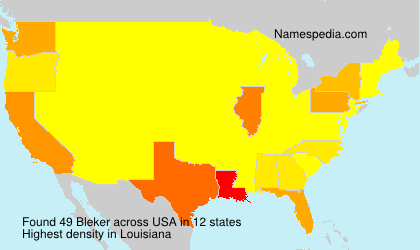 Surname Bleker in USA
