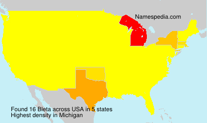 Surname Bleta in USA