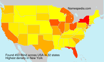 Surname Blind in USA