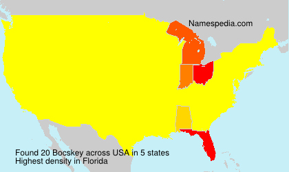 Surname Bocskey in USA