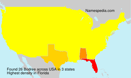 Surname Bodree in USA
