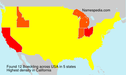 Surname Boeckling in USA