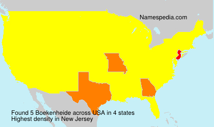 Surname Boekenheide in USA