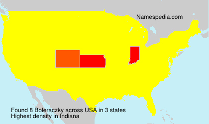 Surname Boleraczky in USA