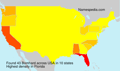 Surname Bomhard in USA