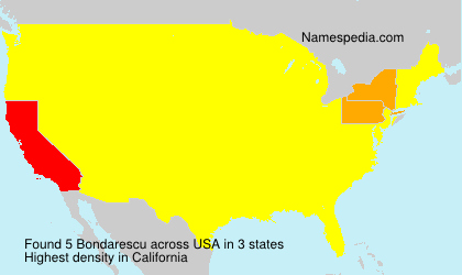 Surname Bondarescu in USA