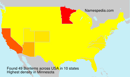 Surname Bontems in USA