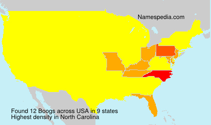 Surname Boogs in USA