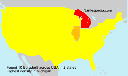 Surname Borgdorff in USA