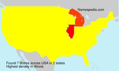 Surname Botres in USA
