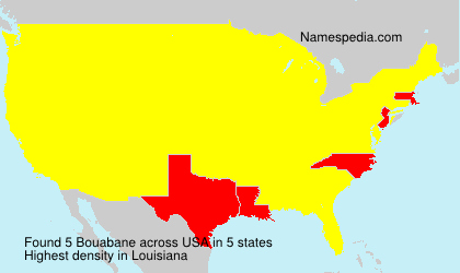 Surname Bouabane in USA