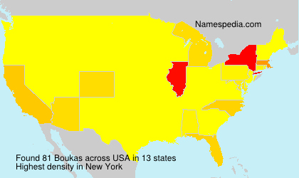 Surname Boukas in USA