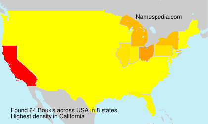 Surname Boukis in USA