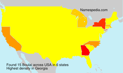 Surname Boulai in USA
