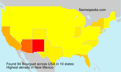 Surname Bourguet in USA