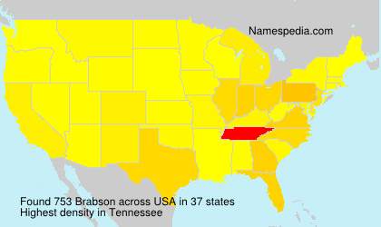 Surname Brabson in USA