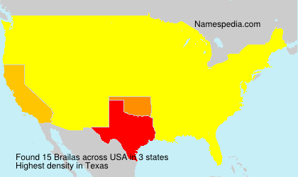 Surname Brailas in USA