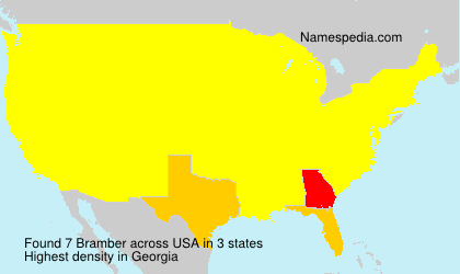 Surname Bramber in USA