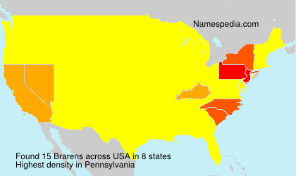 Surname Brarens in USA