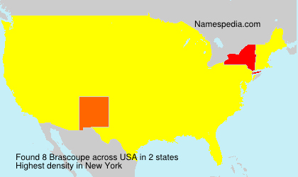 Surname Brascoupe in USA