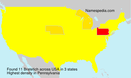 Surname Bratetich in USA