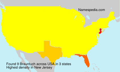 Surname Brauntuch in USA
