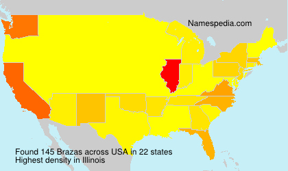 Surname Brazas in USA