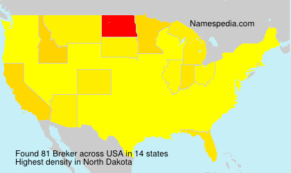 Surname Breker in USA