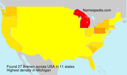 Surname Brenen in USA