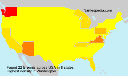 Surname Brennis in USA
