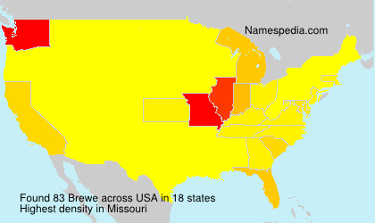 Surname Brewe in USA