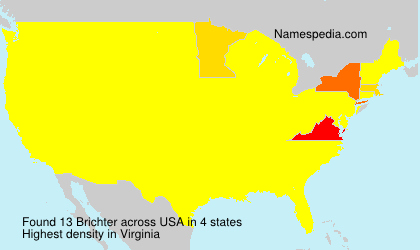 Surname Brichter in USA