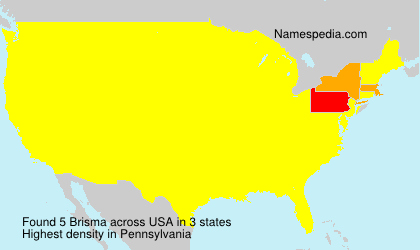 Surname Brisma in USA